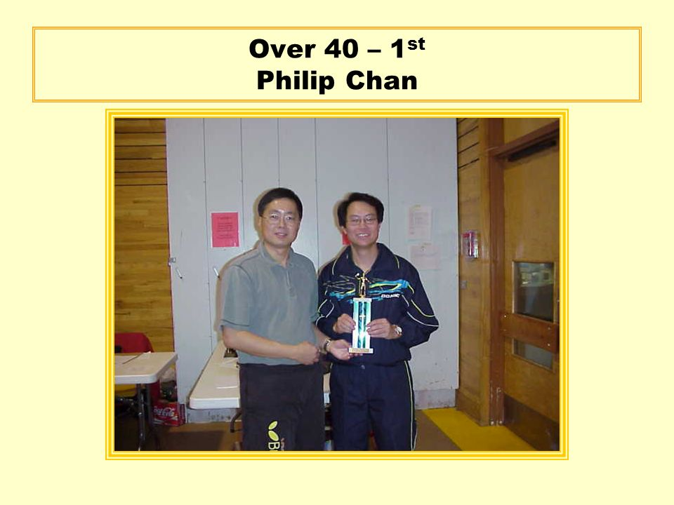 Over 40 – 1 st Philip Chan