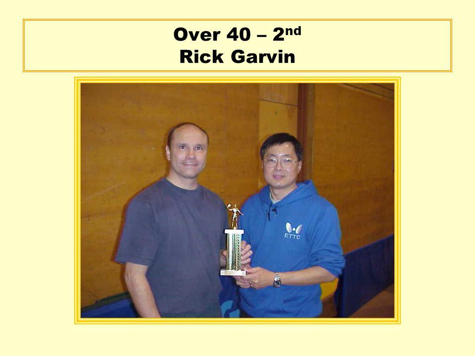 Over 40 – 2 nd Rick Garvin