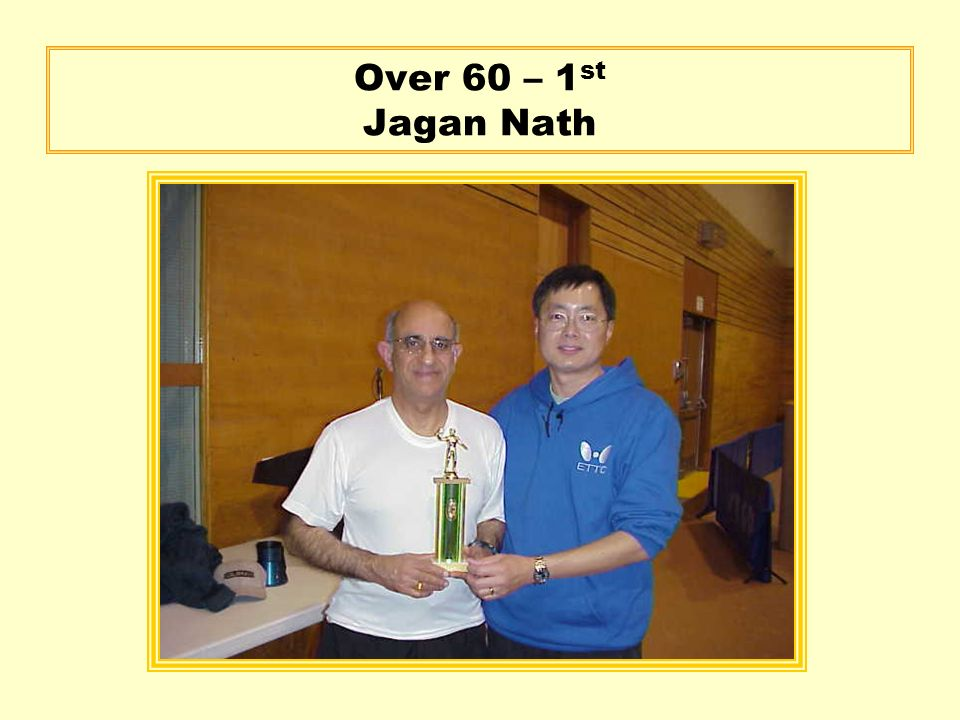 Over 60 – 1 st Jagan Nath