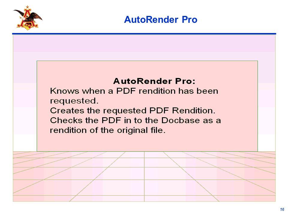 16 AutoRender Pro