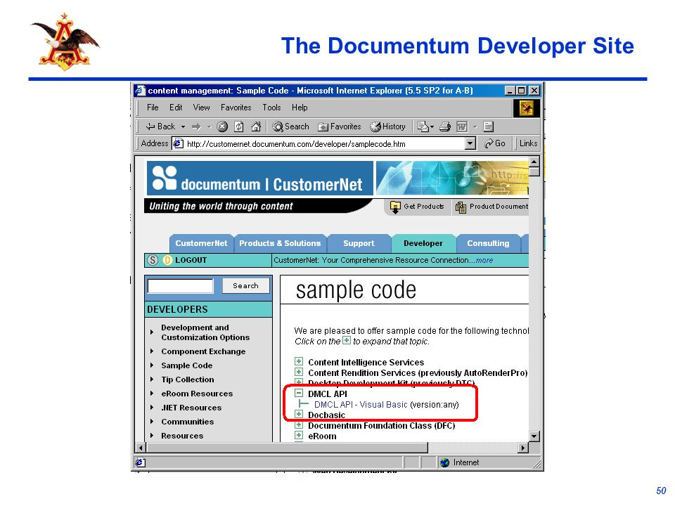 50 The Documentum Developer Site