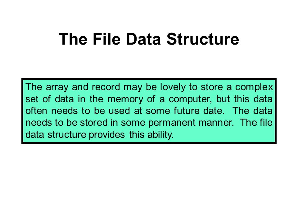 First Record Definition A record is a data structure with one, or more, elements, called fields, of the same or different data types.