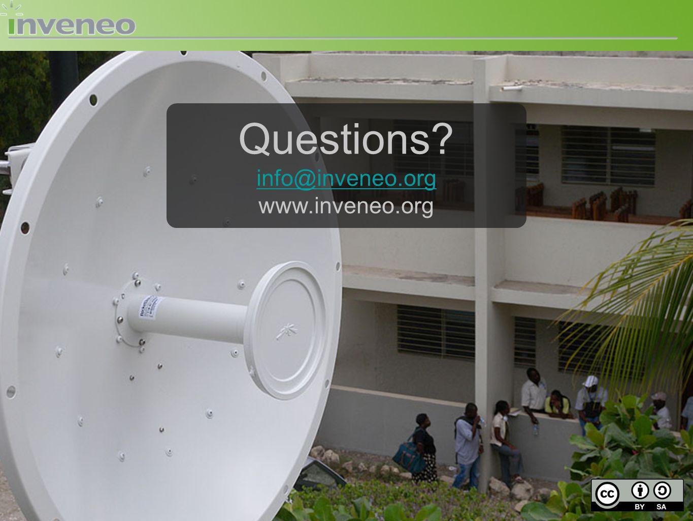 Questions? info@inveneo.org www.inveneo.org