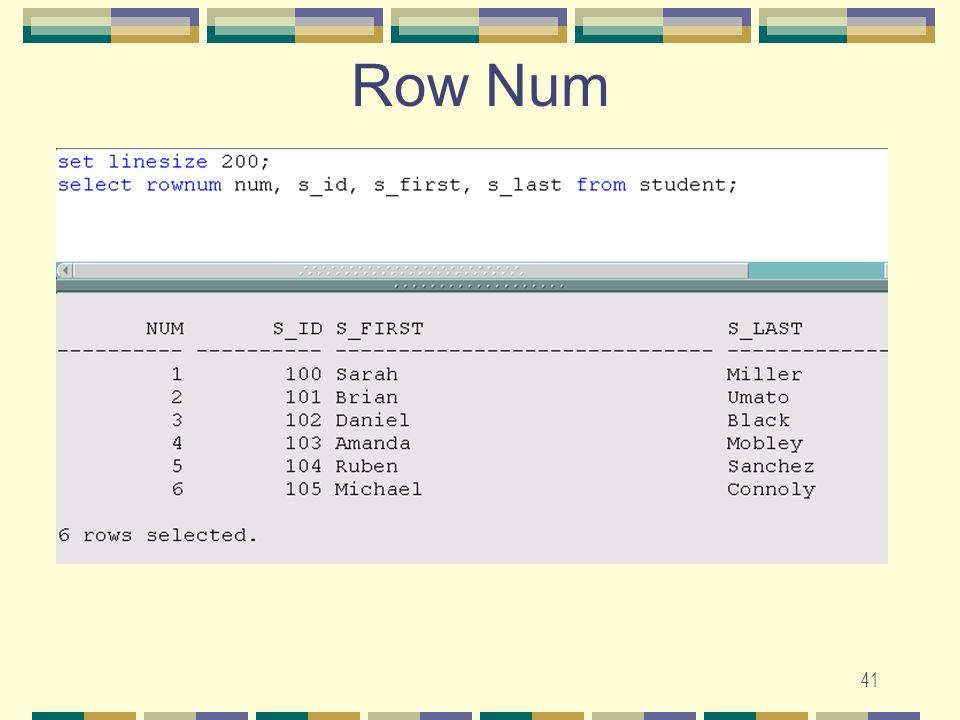 41 Row Num