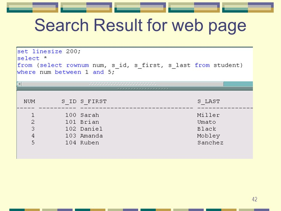 42 Search Result for web page
