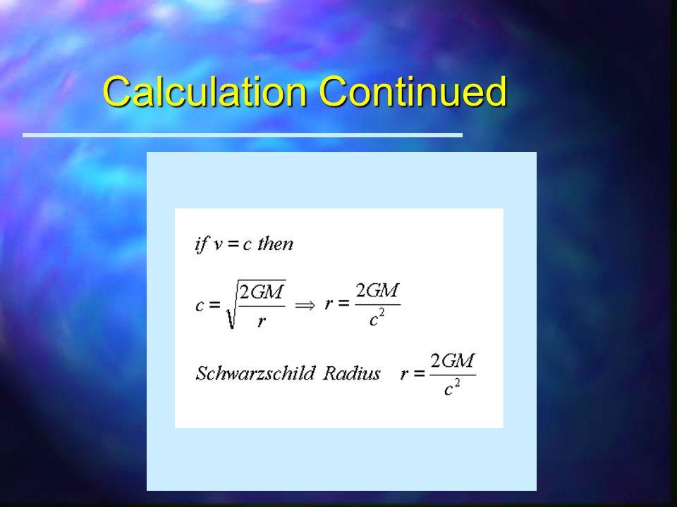 Calculation of Critical Radius