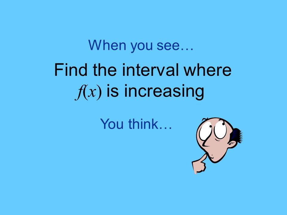 f(x) increasing