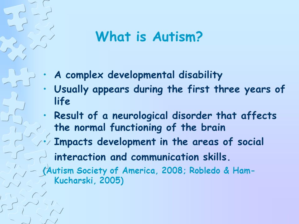 Autism in the Regular Early Childhood Classroom Presented by Laura Robison