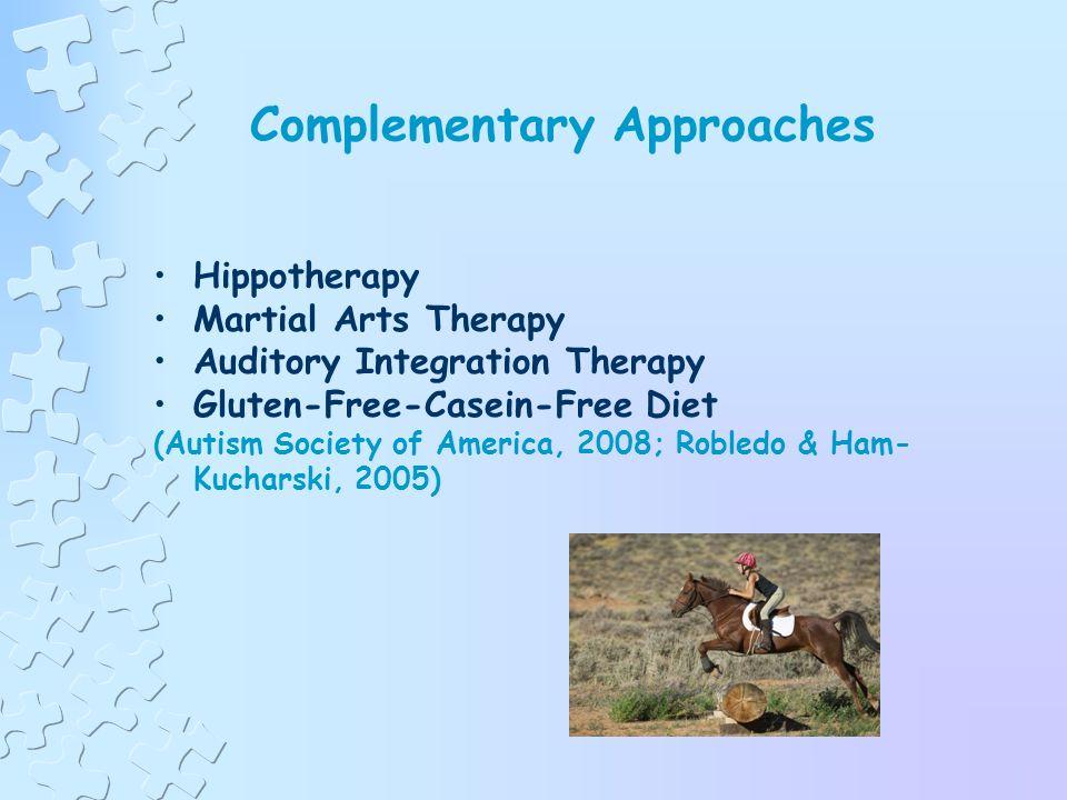 Treatment Approaches or Strategies (cont.) Sensory Integration Social Stories Pivotal Response Treatment Facilitated Communication (FC) Relationship Development Intervention (RDI) (Autism Society of America, 2008; Robledo & Ham- Kucharski, 2005)