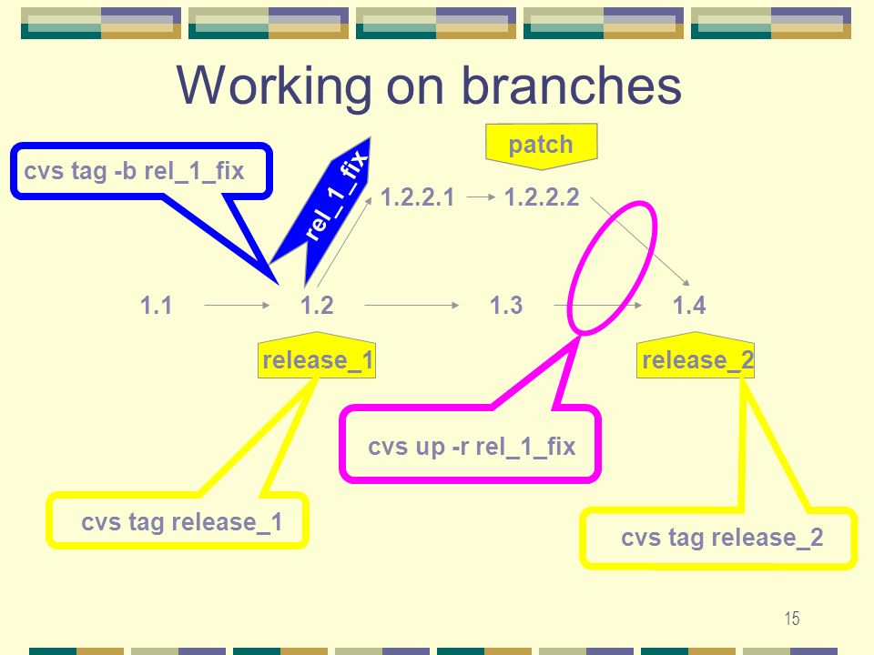 14 Definition-Branch Version number can contain more than two numbers to mark branches.