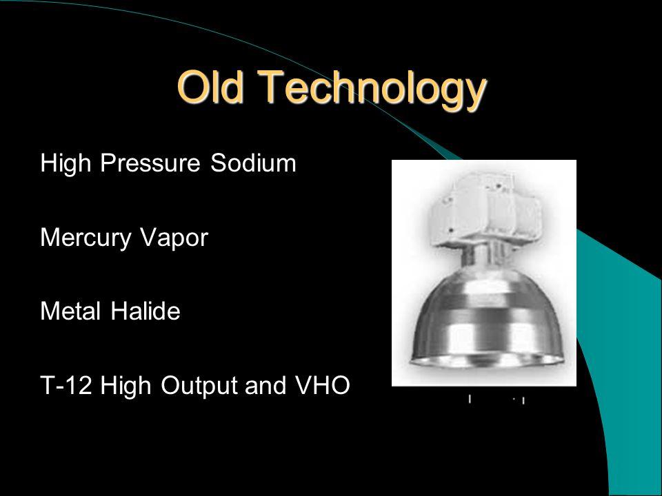 Old Technology High Pressure Sodium Mercury Vapor Metal Halide T-12 High Output and VHO