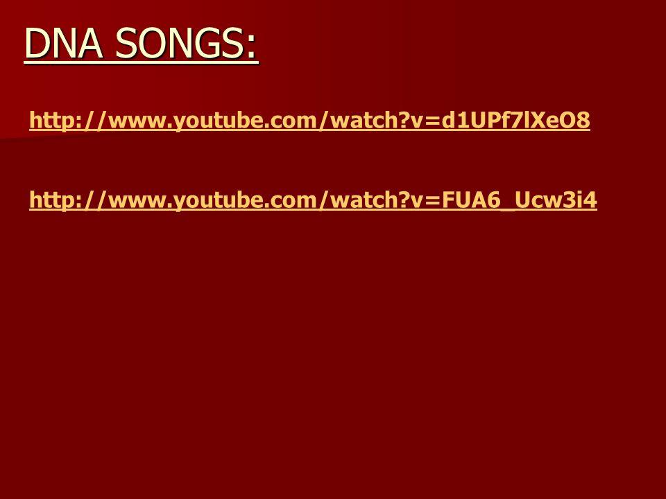 http://www.youtube.com/watch?v=d1UPf7lXeO8 http://www.youtube.com/watch?v=FUA6_Ucw3i4 DNA SONGS: