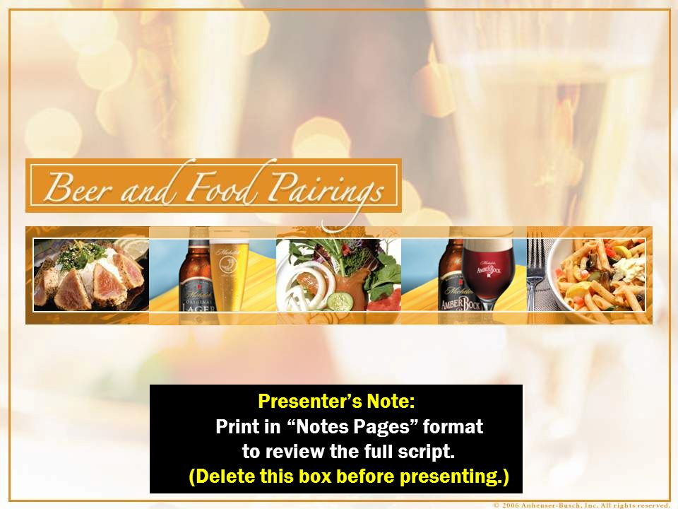Chef & Brewmaster Pairing Highlights Poultry Michelob Lager & Mesquite B.B.Q.