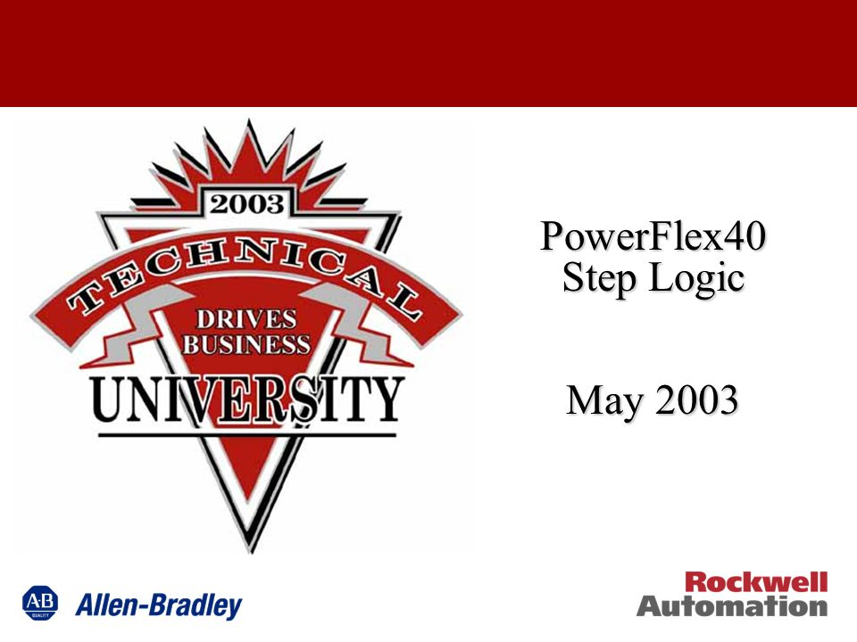 PowerFlex40 Step Logic May 2003