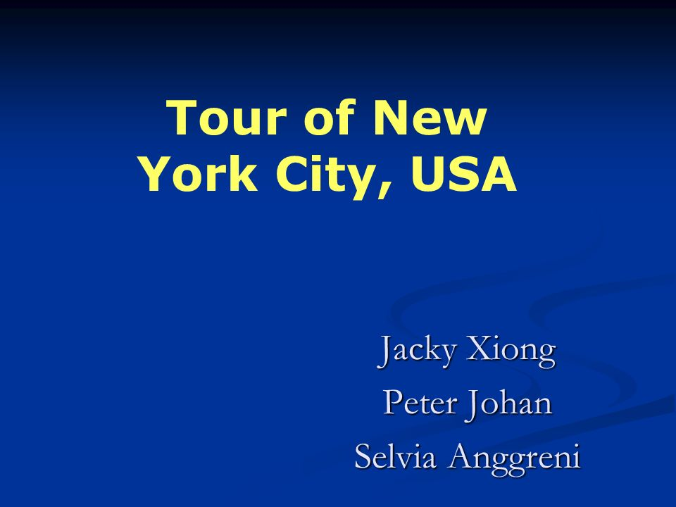 Jacky Xiong Peter Johan Selvia Anggreni Tour of New York City, USA