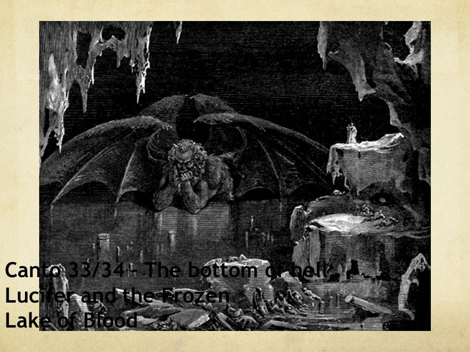 Canto 33/34 – The bottom of hell; Lucifer and the Frozen Lake of Blood