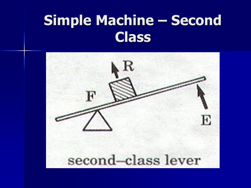 Simple Machine – Second Class
