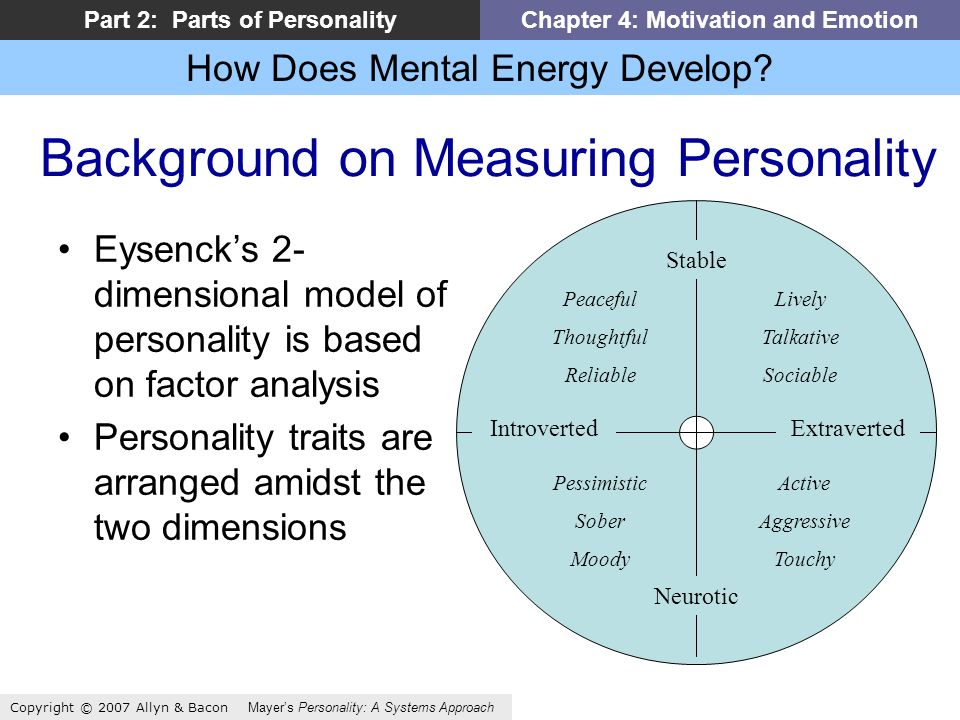 How Does Mental Energy Develop.