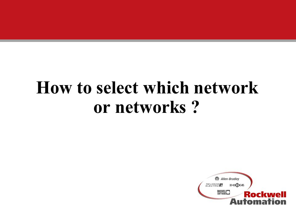 CIG University III - 19991 How to select which network or networks ?