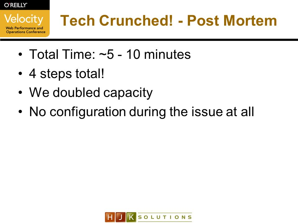 Tech Crunched. - Post Mortem Total Time: ~5 - 10 minutes 4 steps total.