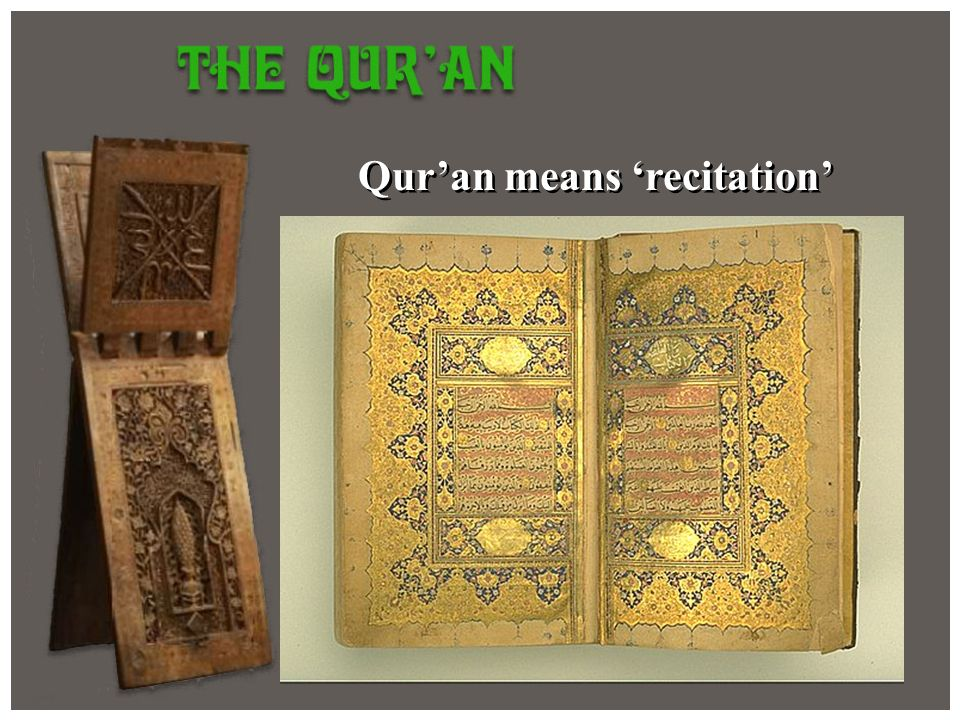 Quran means recitation