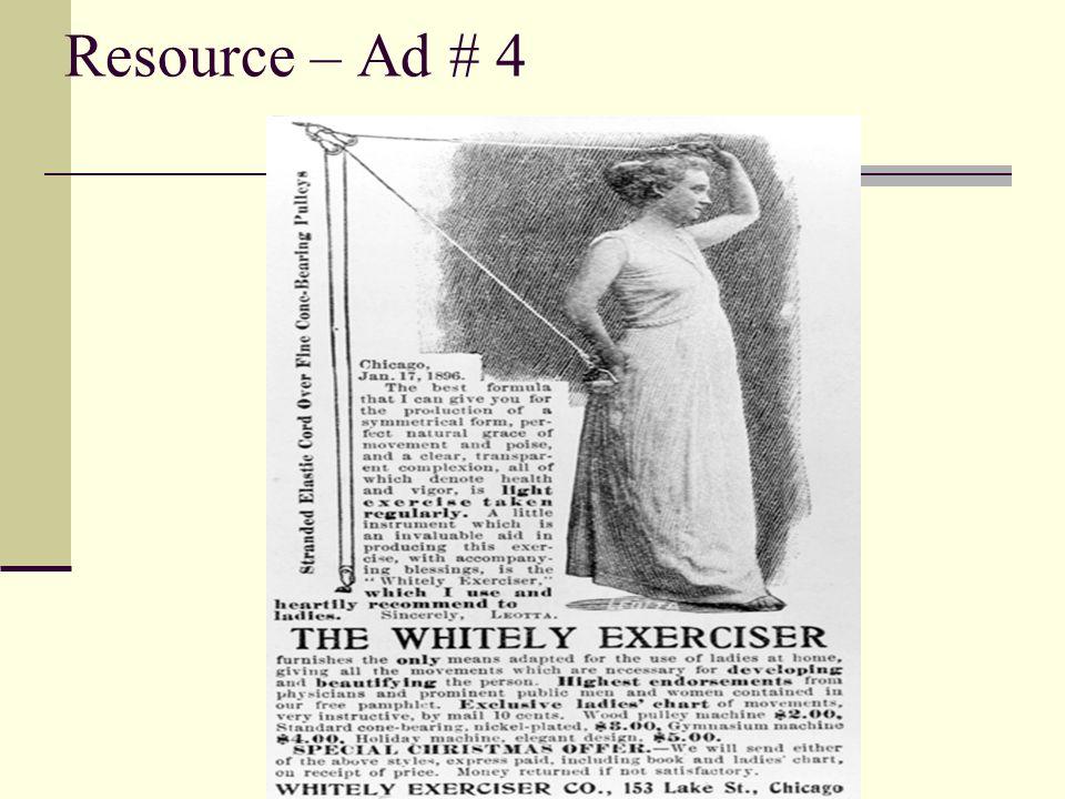 Resource – Ad # 4