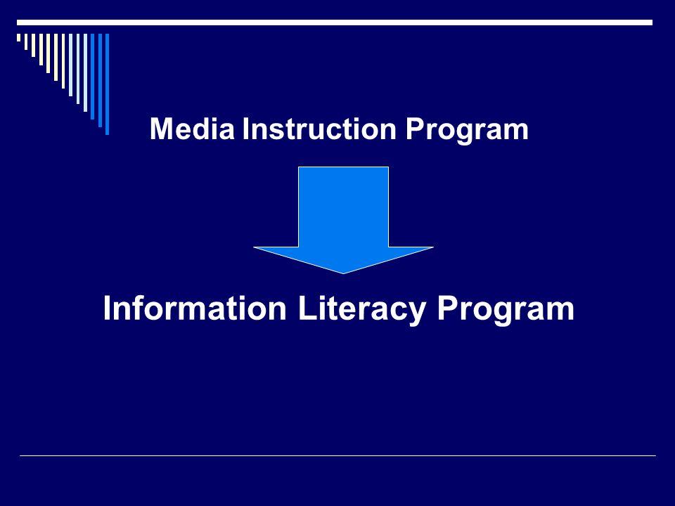 Media Instruction Program Information Literacy Program