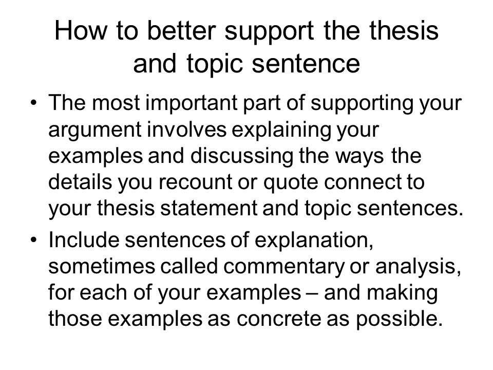 Topic sentene for murder essay?