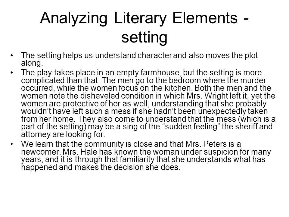 trifles setting essay