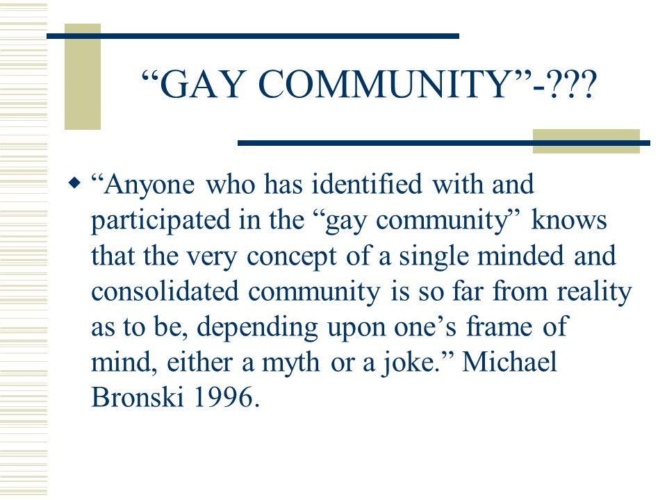 GAY COMMUNITY- .