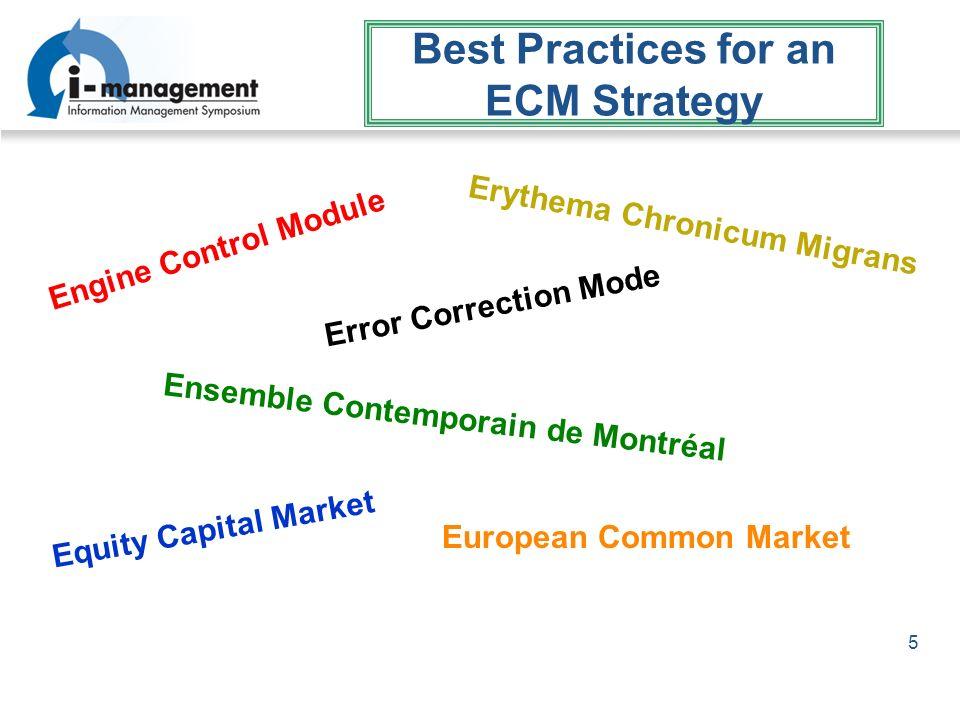 5 Best Practices for an ECM Strategy Engine Control Module Error Correction Mode European Common Market Erythema Chronicum Migrans Equity Capital Mark