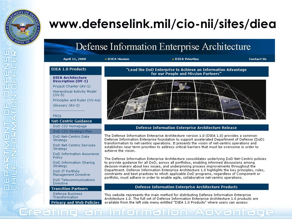 www.defenselink.mil/cio-nii/sites/diea