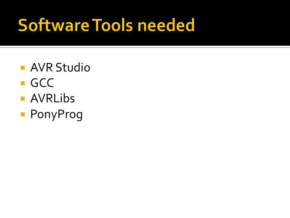 AVR Studio GCC AVRLibs PonyProg