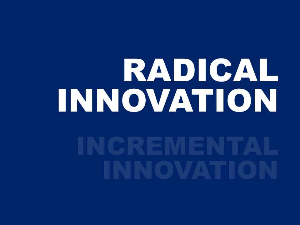 RADICAL INNOVATION INCREMENTAL INNOVATION