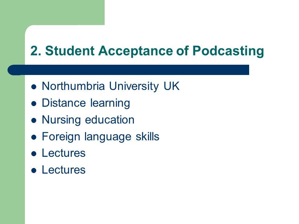 Northumbria University UK Distance learning Nursing education Foreign language skills Lectures
