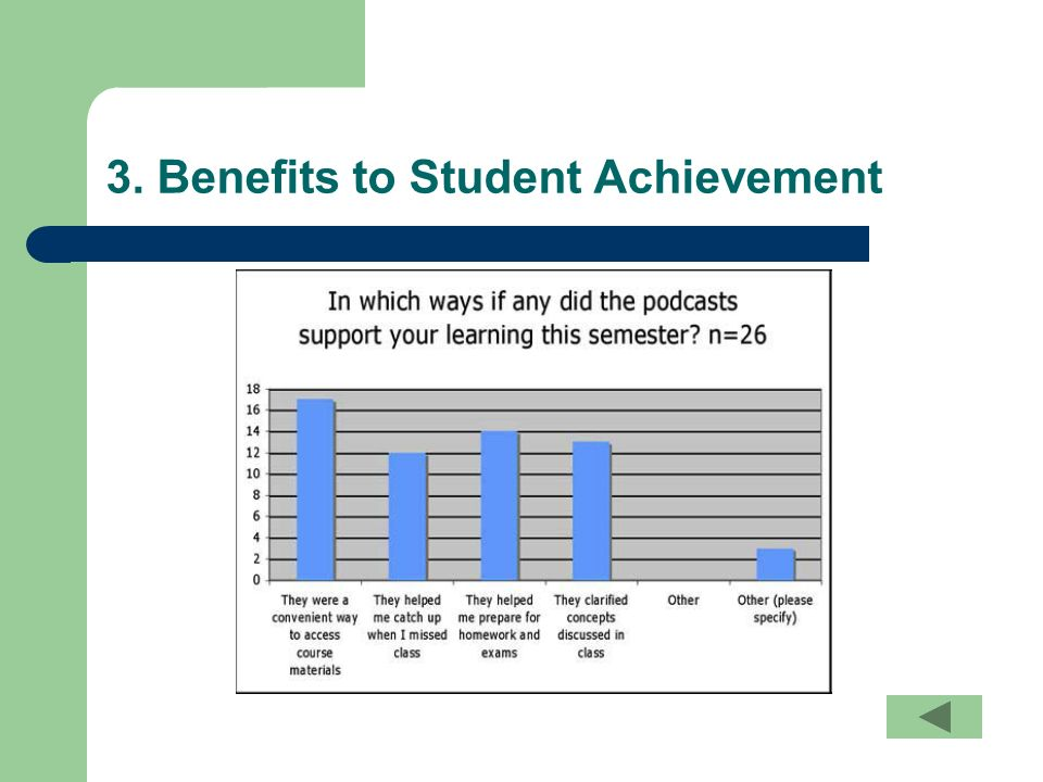 3. Benefits to Student Achievement