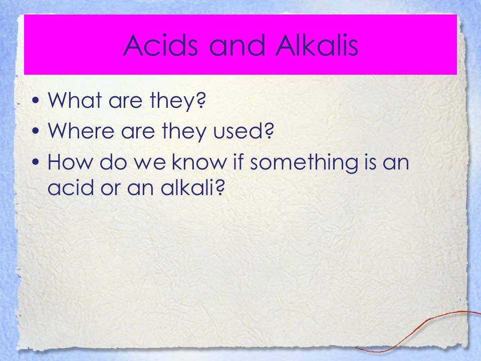 The strength of an acid or alkali is measured by the pH scale.