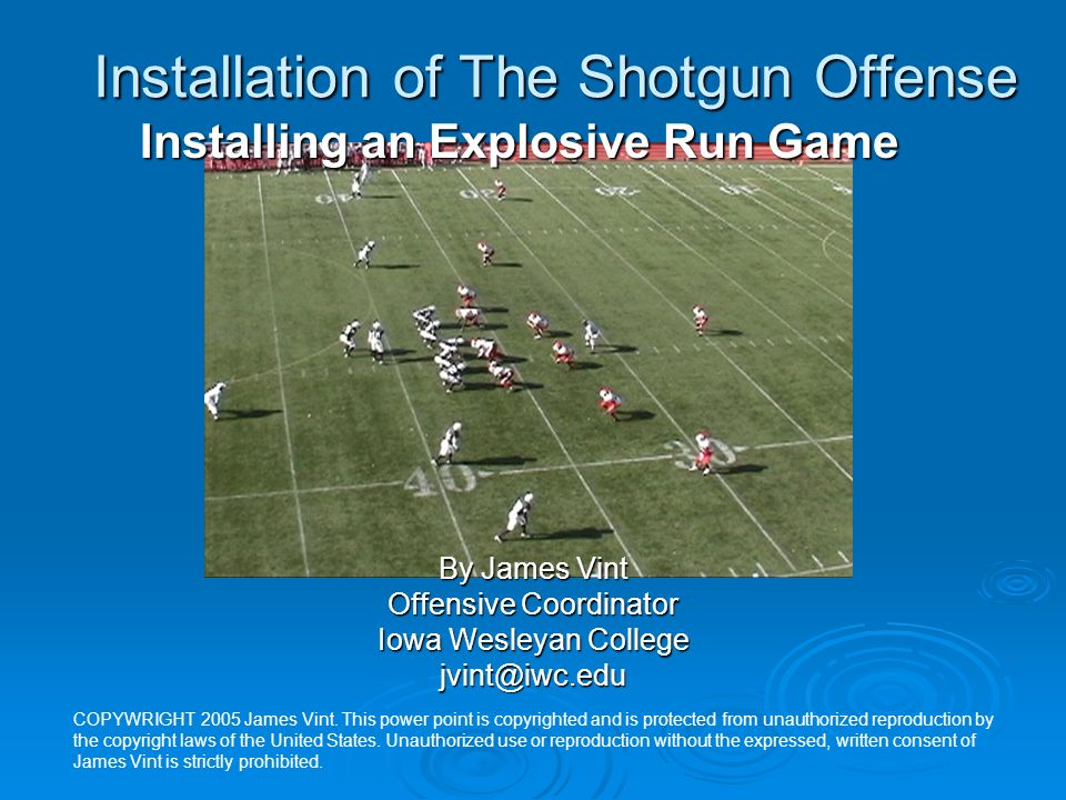 Installing The Option Game Into Your Gun Offense IS Veer IS Veer OS Veer OS Veer Load Option Load Option Lead Option Lead Option Speed Option Speed Option Speed Lead Option Speed Lead Option Belly G Option Belly G Option Slide (Shovel) Option Slide (Shovel) Option Counter Read Option Counter Read Option Tackle Trap Read Option Tackle Trap Read Option