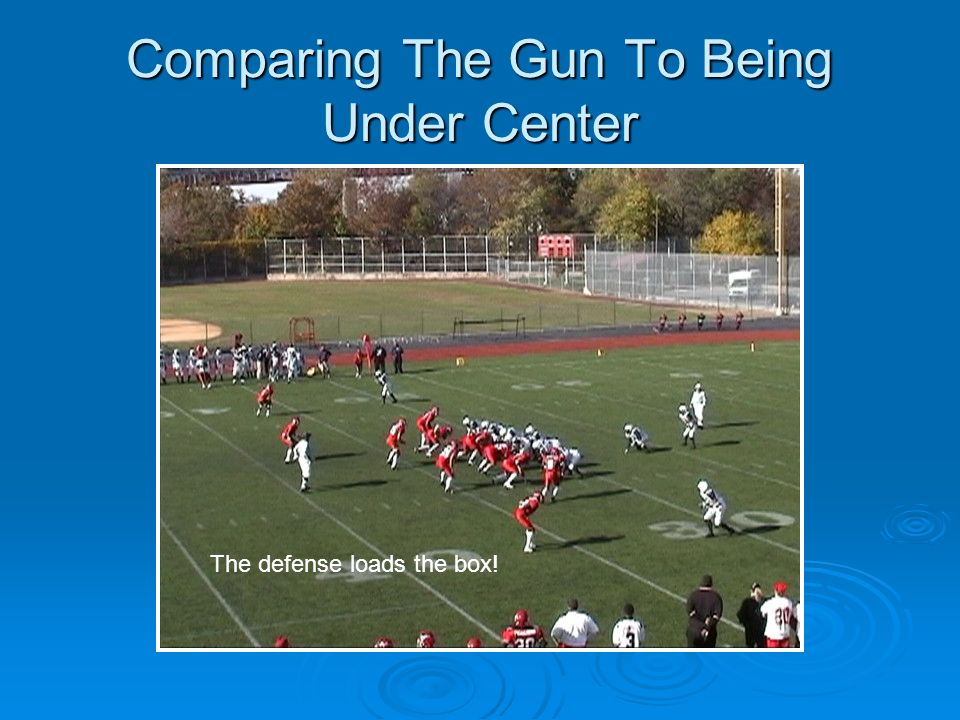 Comparing The Gun To Being Under Center The defense loads the box!