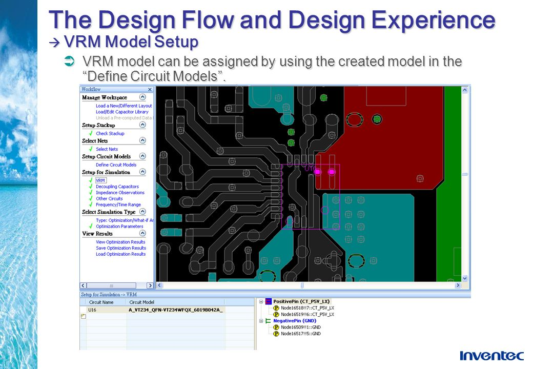 The Design Flow and Design Experience VRM Model Setup VRM model can be assigned by using the created model in the Define Circuit Models.