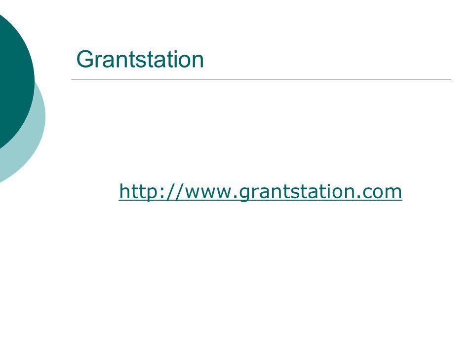Grantstation http://www.grantstation.com