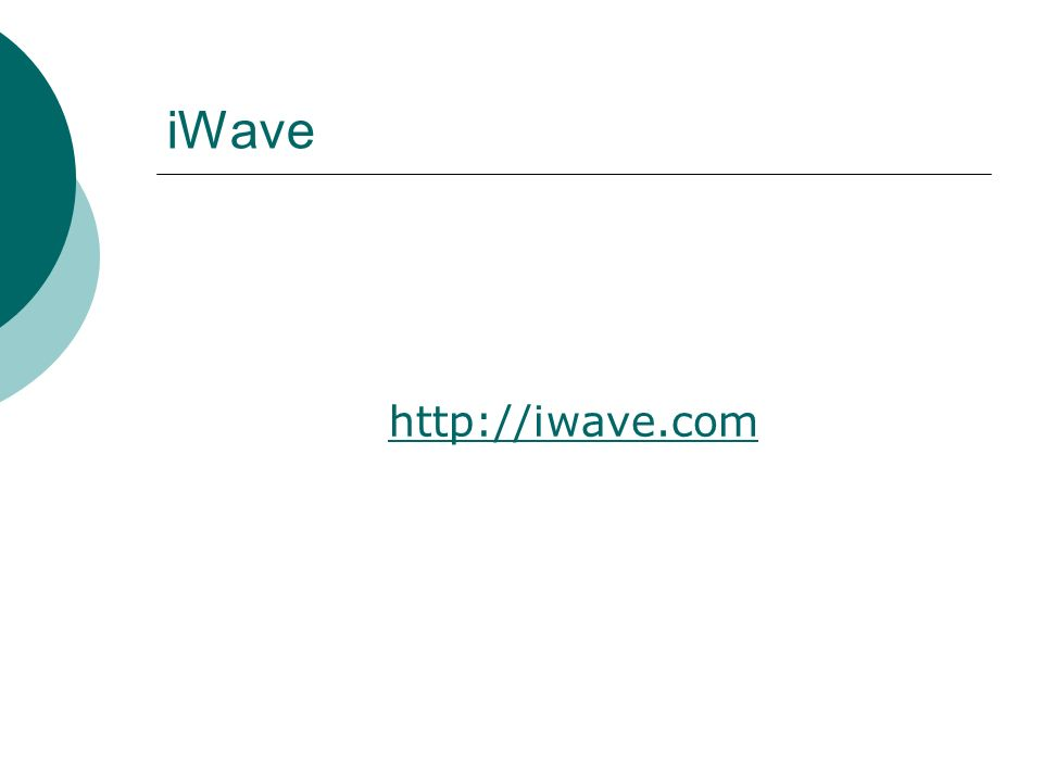 iWave http://iwave.com