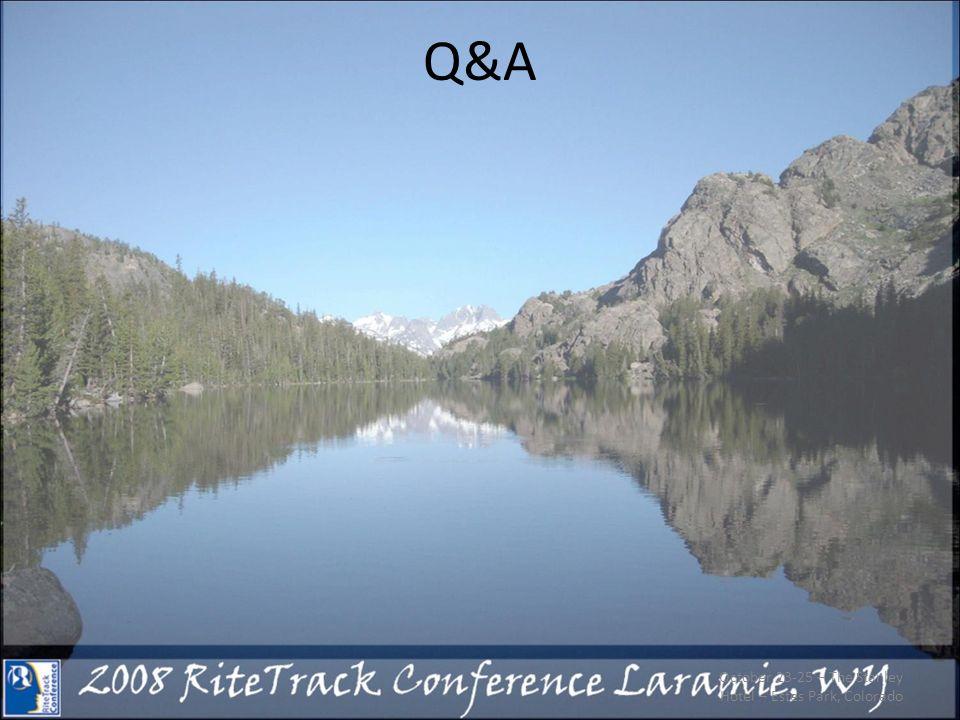 Q&A October 23-25 – The Stanley Hotel – Estes Park, Colorado