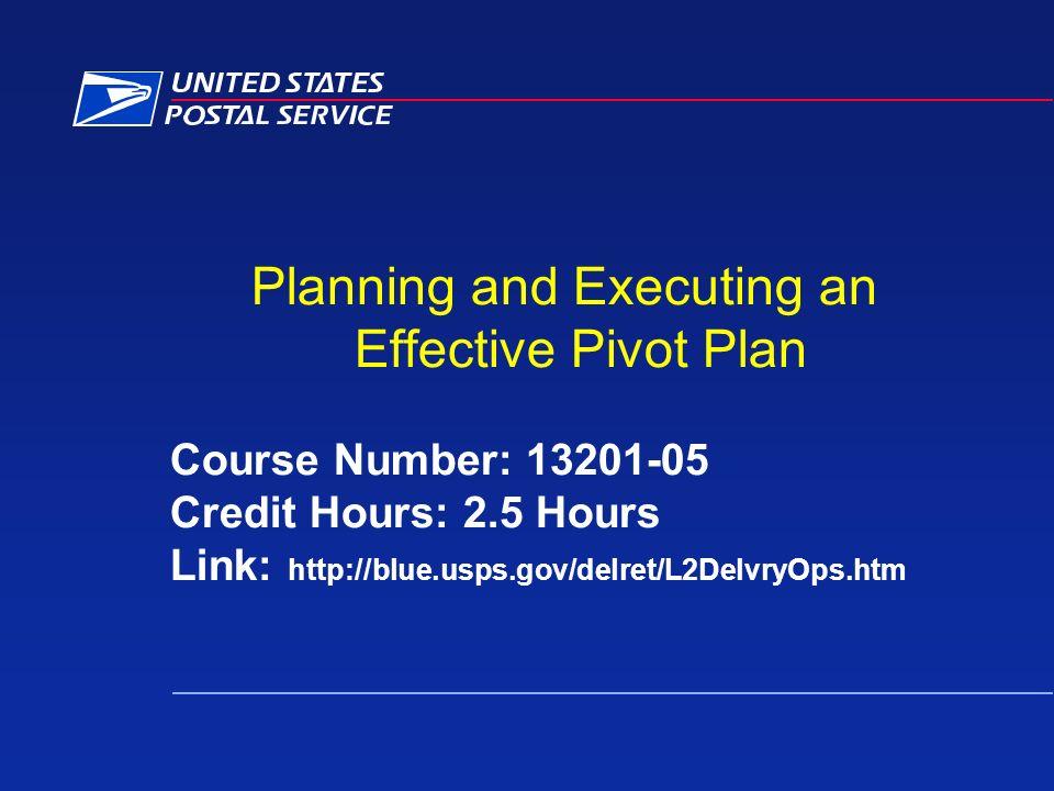 Plan Pivot Coaching Module