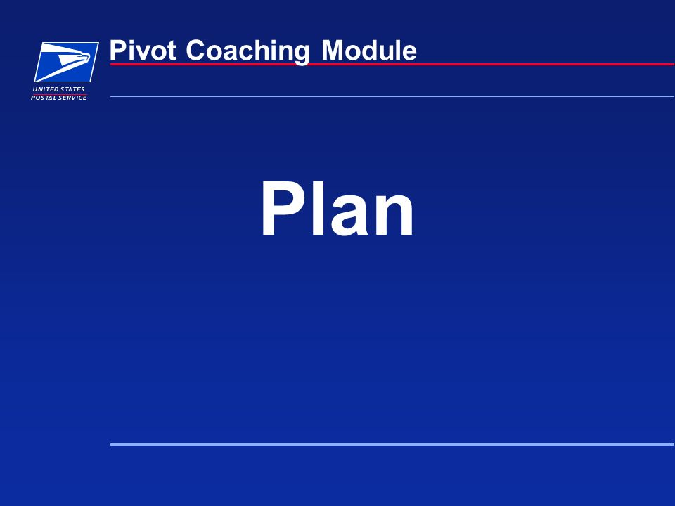 Plan Pivot Coaching Module