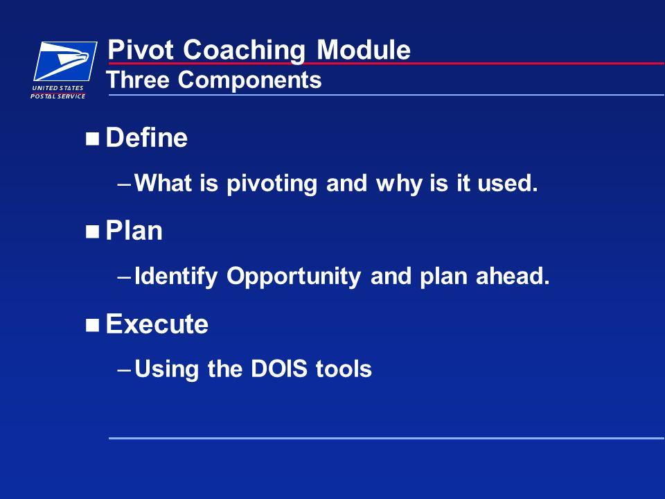 Define Pivot Coaching Module