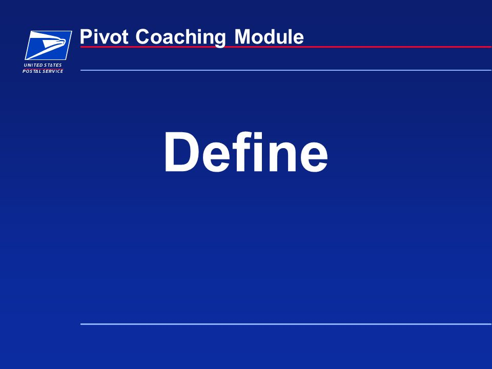 Define Pivot Coaching Module