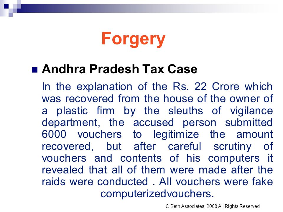 Forgery Andhra Pradesh Tax Case In the explanation of the Rs. 22 Crore which was recovered from the house of the owner of a plastic firm by the sleuth