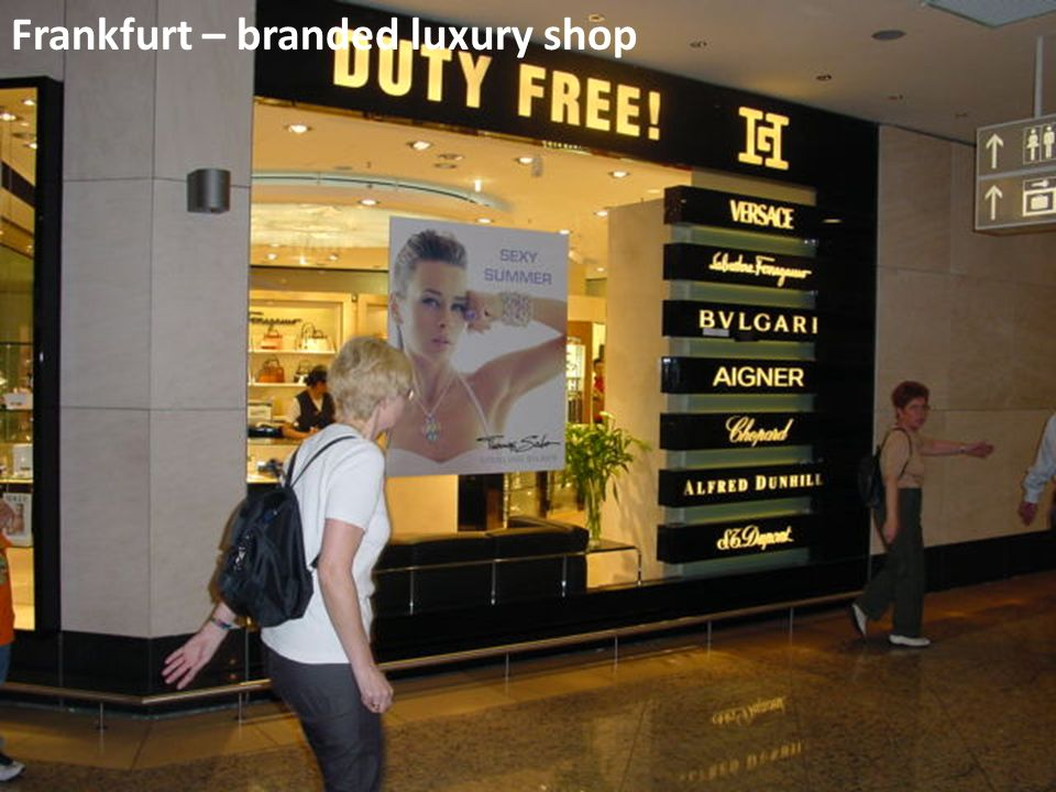 Frankfurt – branded luxury shop