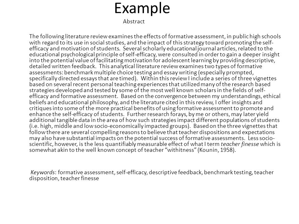 Example [without keywords] Abstract Using Kellys (1986) four perspectives on teacher disclosure, I analyze the quality of instruction present in the classrooms of six high school government teachers during their coverage of the 2008 Presidential Election, an event that received widespread media attention and elicited strong feelings on both sides of the political spectrum.